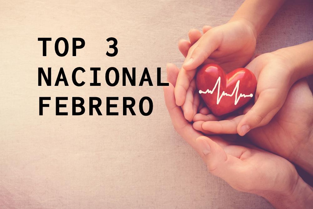 Top 3 Nacional – Febrero